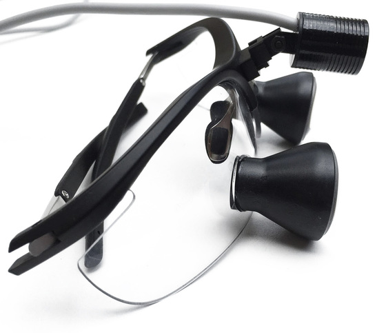 ultralight optics dental led loupes light
